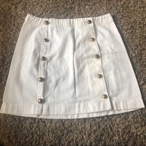 Michael Kors White Denim Skirt Size 8 New